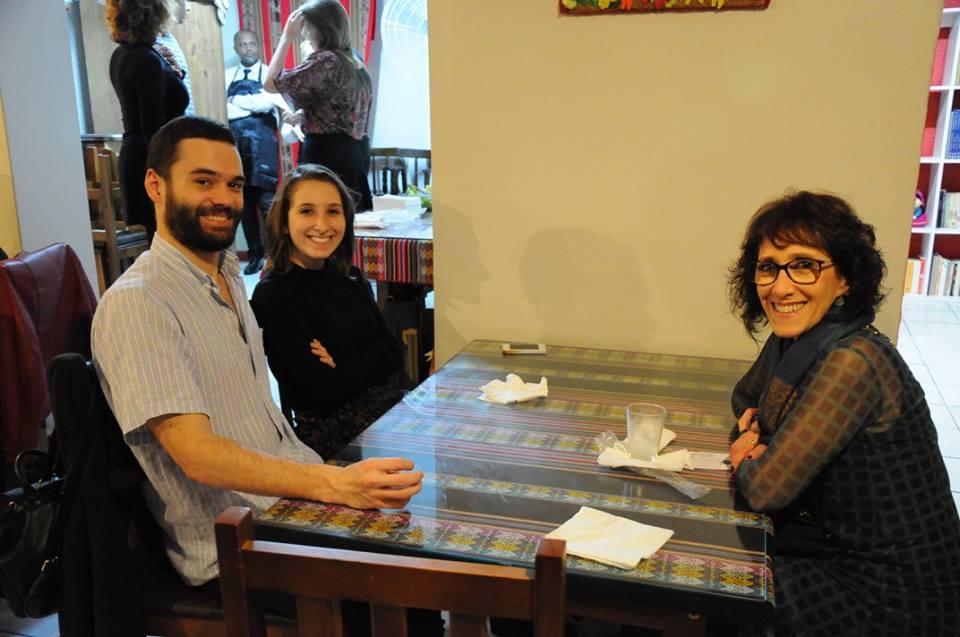 Meu genro preferido, Vicente Cortese, minha filha Bárbara Jardim Ribeiro e minha irmã Iracema Gonçalves