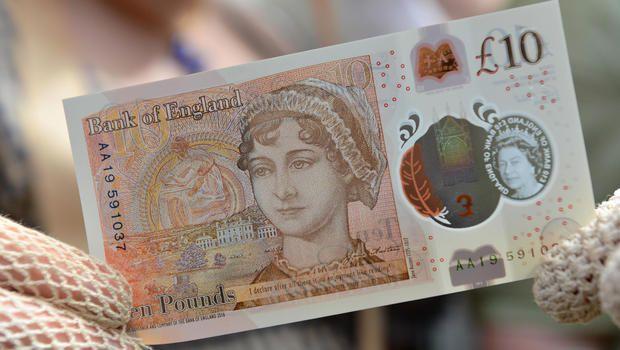 As novas notas de dez libras no Reino Unido: sai Charles Darwin e entra Jane Austen