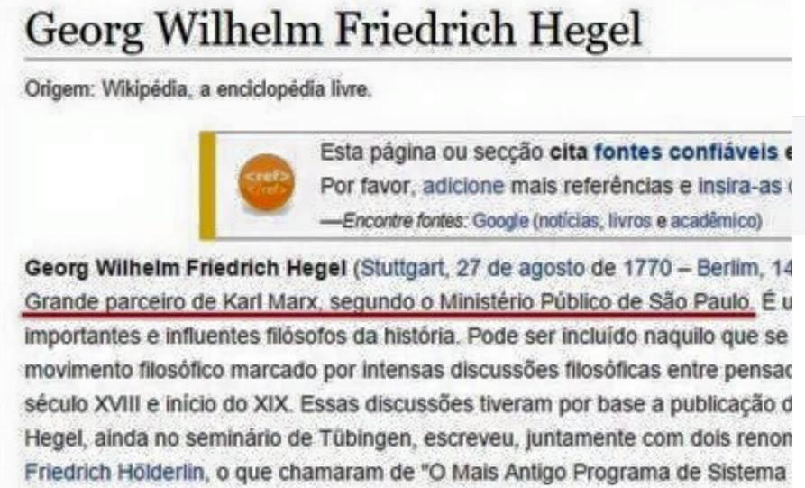 "Marx e Hegel, ""Nietzche"" e a Martin Claret"