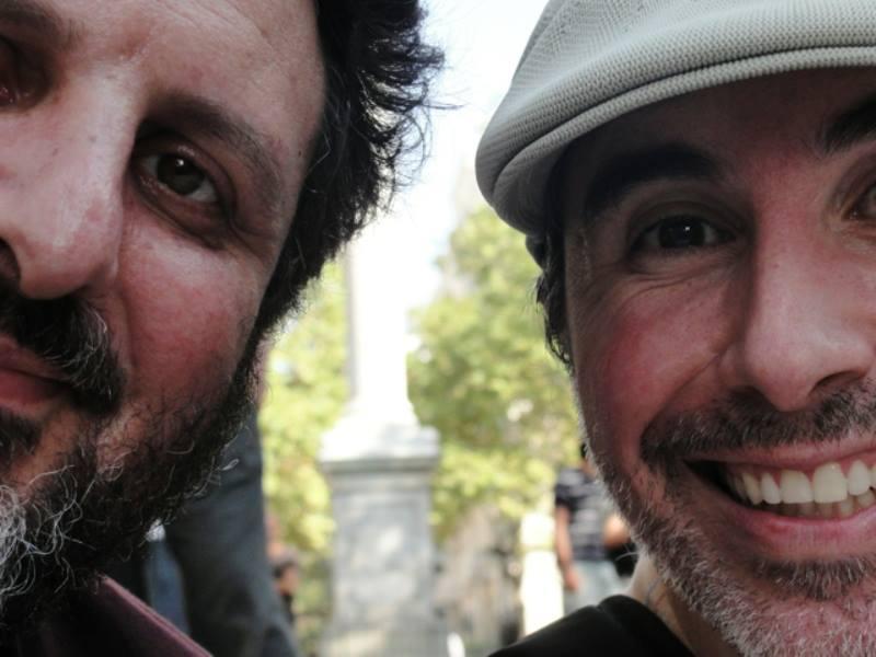 Ontem, Marcelo Delacroix e Dany López no excelente Canciones Cruzadas