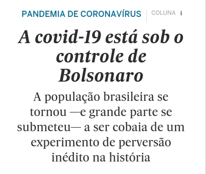 Sob o comando de Bolsonaro