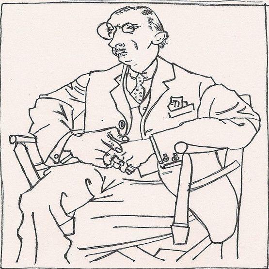 Igor Stravinsky, por Picasso