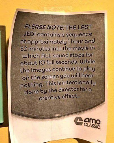 Star Wars: cinemas estão alertando sobre uma cena silenciosa do filme
