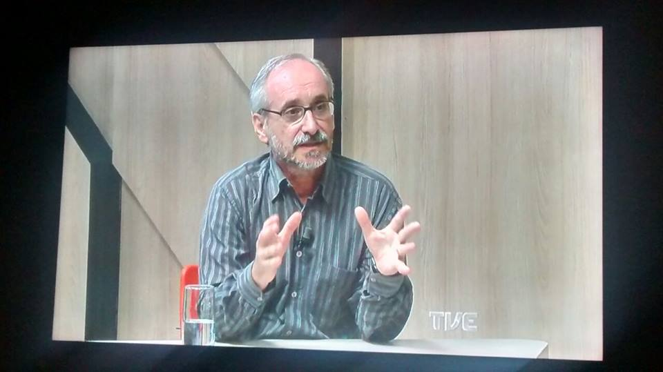 Programa Frente a Frente da TVE com Evandro Matté, Ana Laura Freitas, Vitor Dalla Rosa e este blogueiro