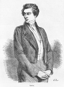 """Luciano de Rubempré, numa ilustração para uma edição de """"As Ilusões Perdidas"""" de 1867"""