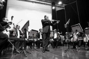 Cláudio Cruz no concerto de ontem | Foto: Antonieta Pinheiro