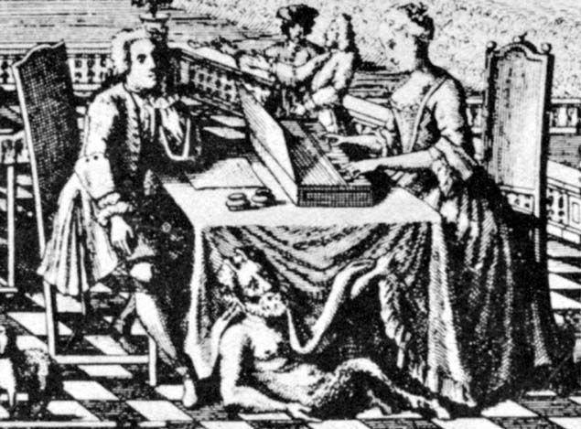 Dizem que esta é uma gravura de Johann Sebastian e Anna Magdalena. Estilizadinha, não?