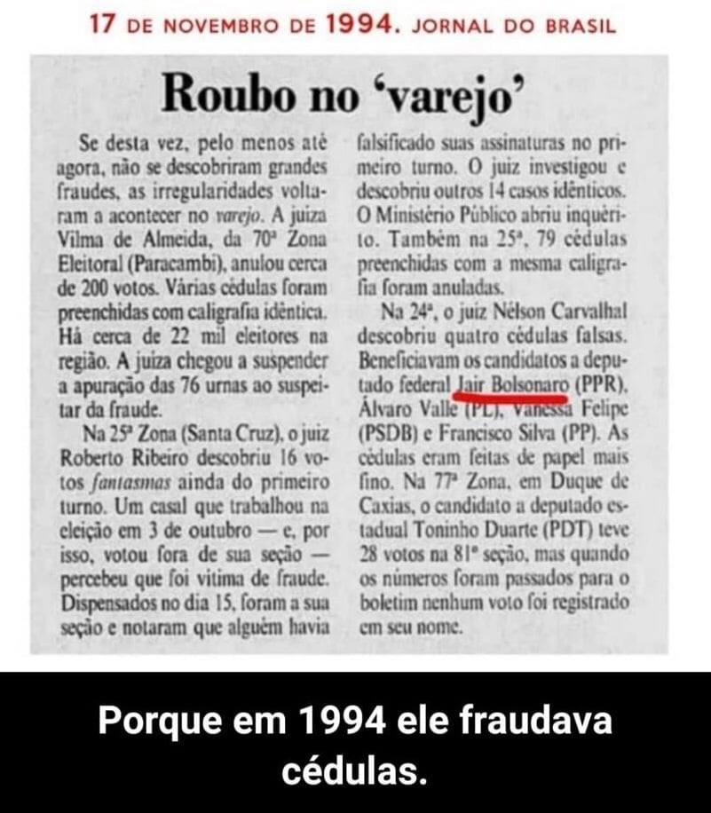 Por que Bolsonaro é a favor do voto impresso, da cédula de papel