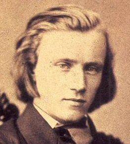 O jovem Brahms em 1853