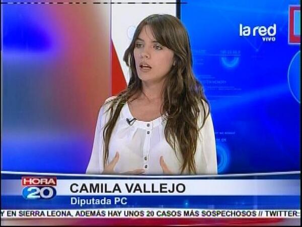 Nós apoiamos a comunista Camila Vallejo! E de forma imoderada