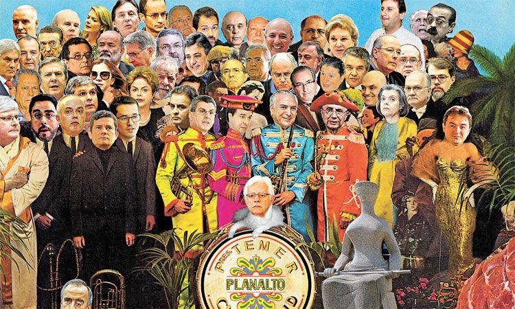 Baseada na crise brasileira e em Sgt. Peppers, capa do Estado de Minas viraliza
