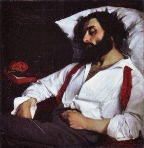 """Só para irritar o Conde Keyserling: Charles Auguste Emile Carolus-Duran """"Sleeping Man"""" (1861)"""