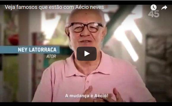 Para lembrar, no dia em que o STF deve julgar Aécio: o vídeo dos famosos que o apoiaram em 2014