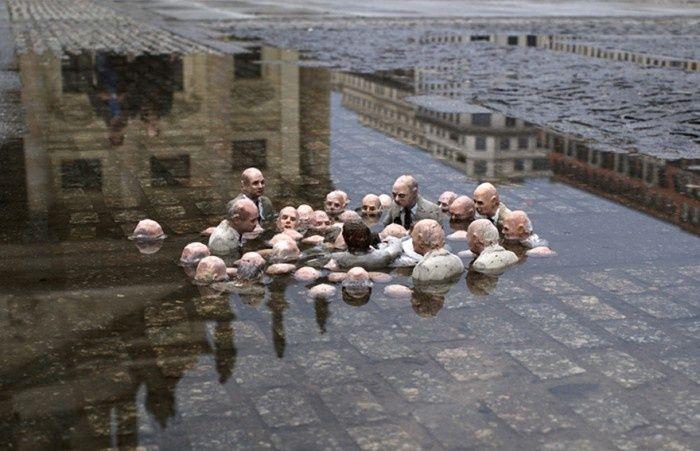 Políticos discutindo o aquecimento global
