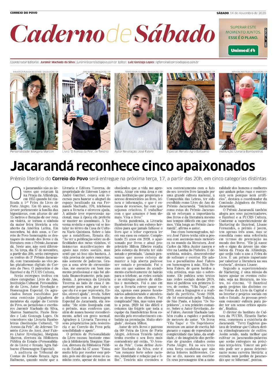 Bamboletras premiada com o Jacarandá 2020