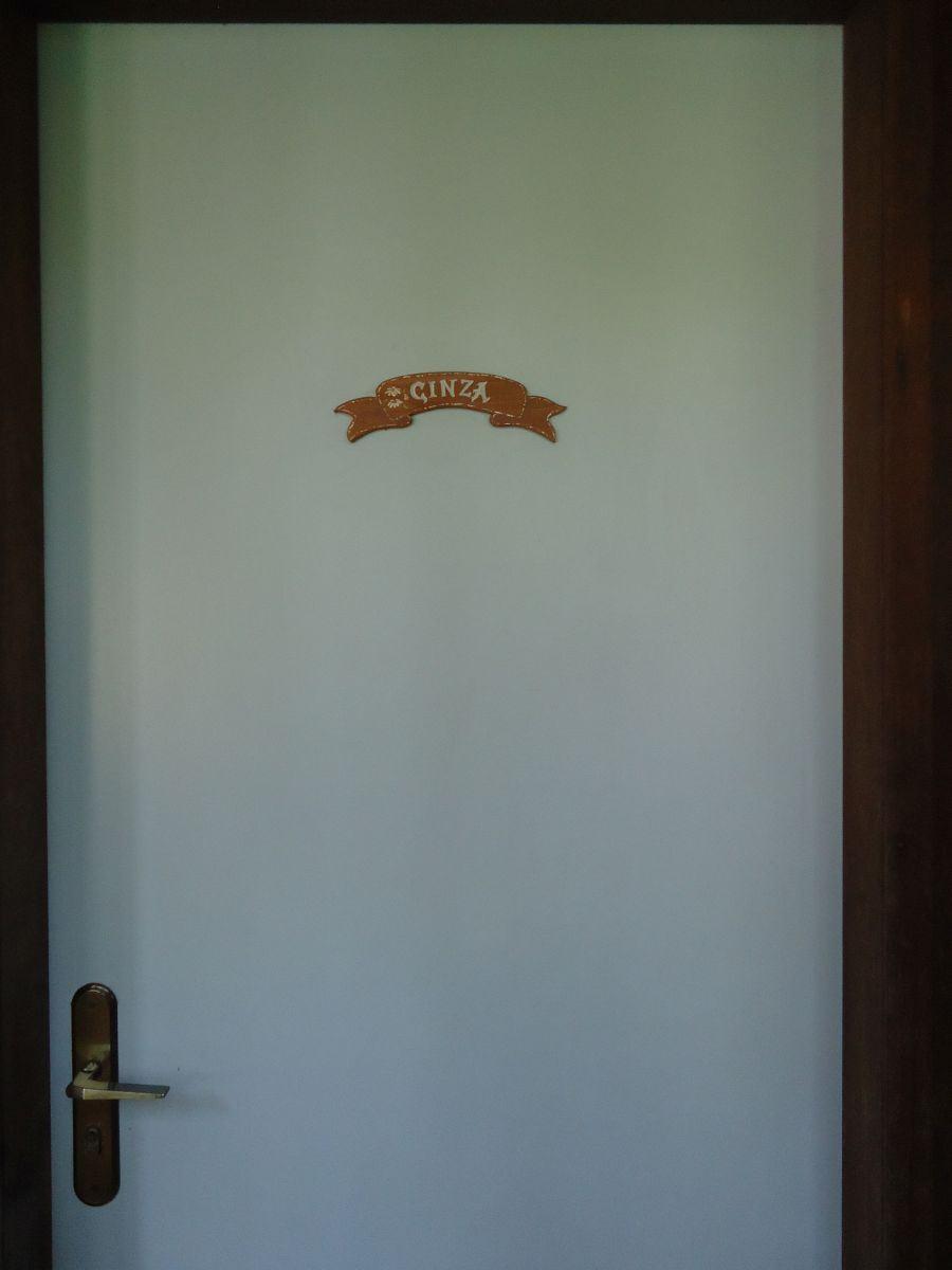 A previsão do tempo na porta do quarto