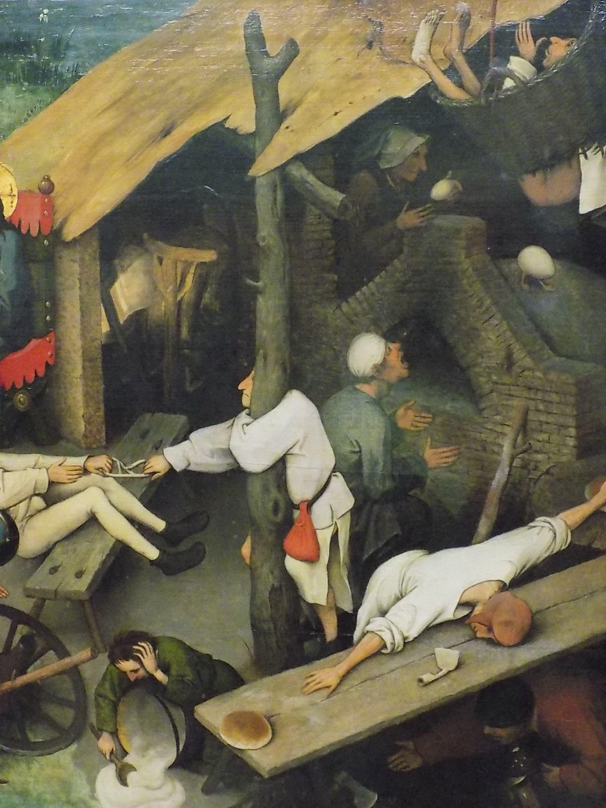 Detalhe dos 'Provérbios Holandeses' de Pieter Brueghel, o Velho