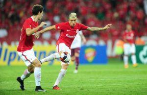 D`Alessandro marca seu golaço na única boa jogada de ataque do Inter | Foto: Ricardo Duarte