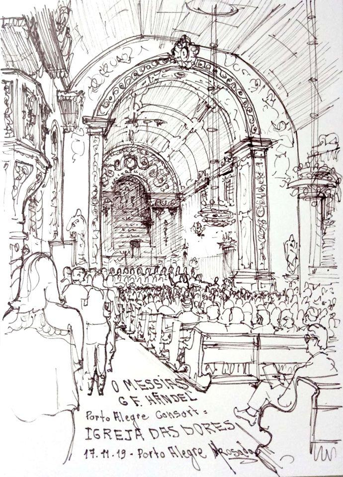 Imagens cruzadas durante 'O Messias' de Händel na Igreja das Dores