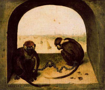 Dois Macacos (1562), de Pieter Brueghel, O Velho.