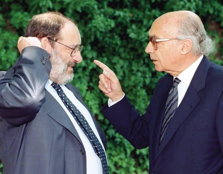 A Fundação José Saramago escreveu, sobre Umberto Eco