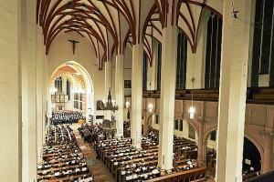 Interior da igreja de São Thomas onde muitas Cantatas de Bach foram apresentadas