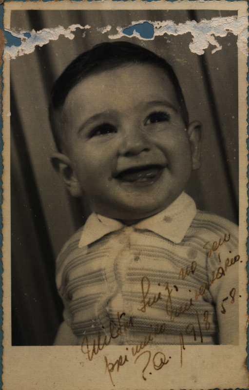 Foto do tradutor quando criança