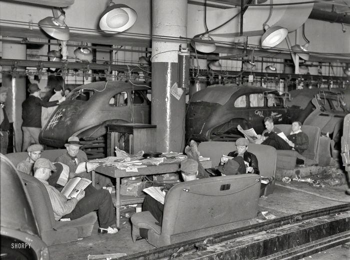 Greve (mas não de leitura) na indústria automobilística norte-americana em 1937