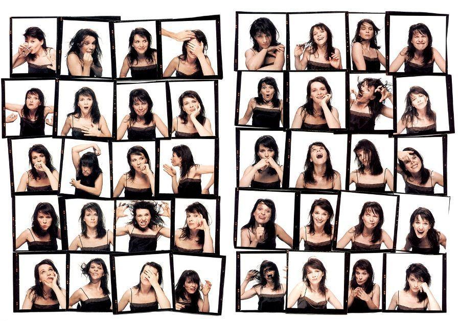 Juliette Binoche faces