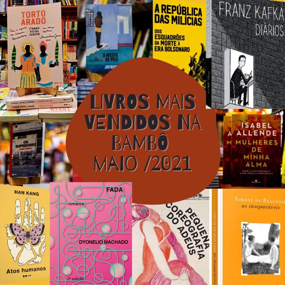 Os livros mais vendidos em maio na Bamboletras