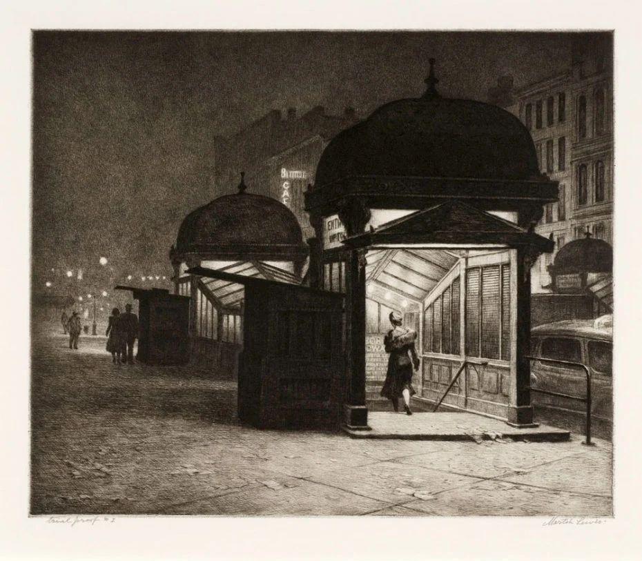 As gravuras noturnas de Martin Lewis, o mestre esquecido de Edward Hopper
