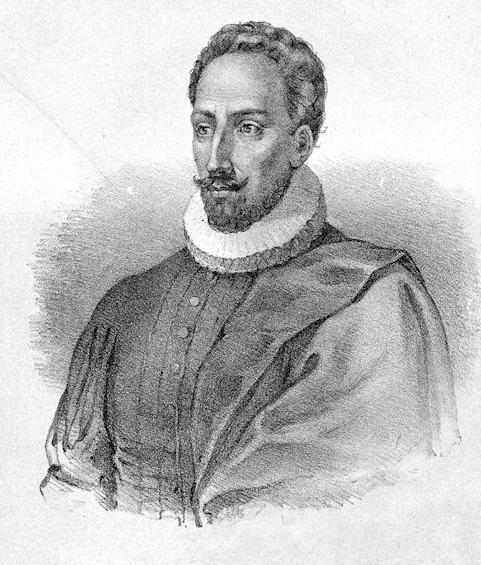 Miguel de Cervantes. Litogravura Não Assinada.