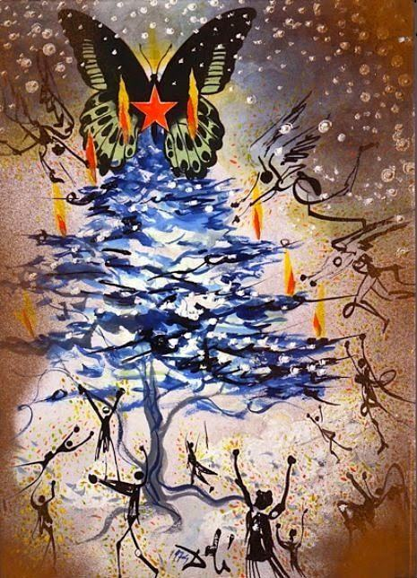 Cartões de Natal por… Salvador Dalí!