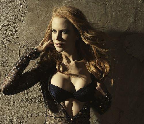 Nicole-Kidman-Sexy-Black-Lingerie-Photoshoot2