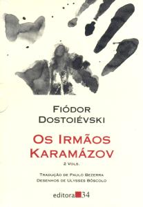 Capa de Os Irmãos Karamázov da Editora 34