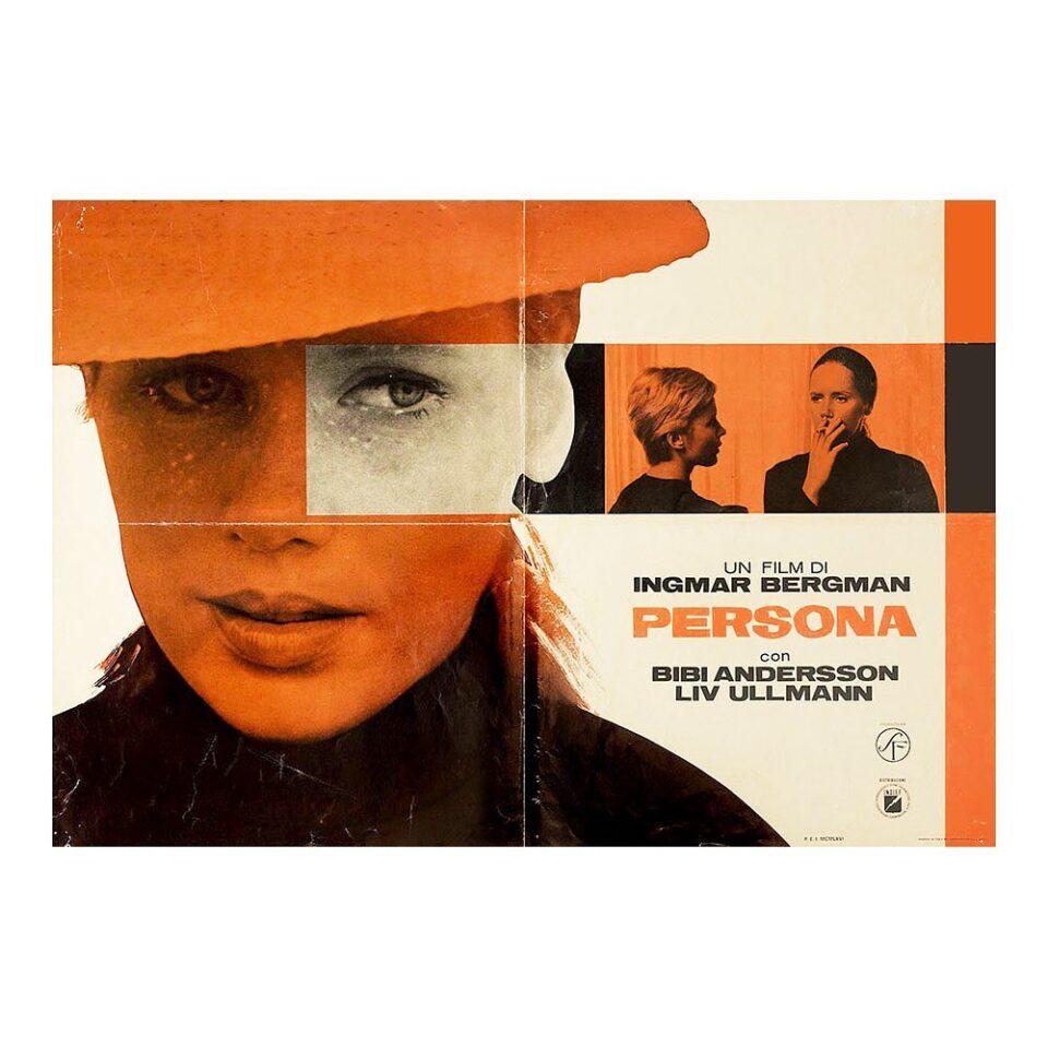 Um cartaz do filme 'Persona', de Ingmar Bergman