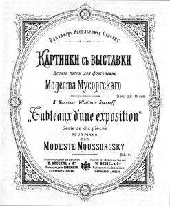 A primeira edição de Quandros de uma Exposição