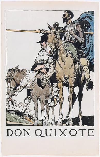 Edward Hopper fez ilustrações para Dom Quixote