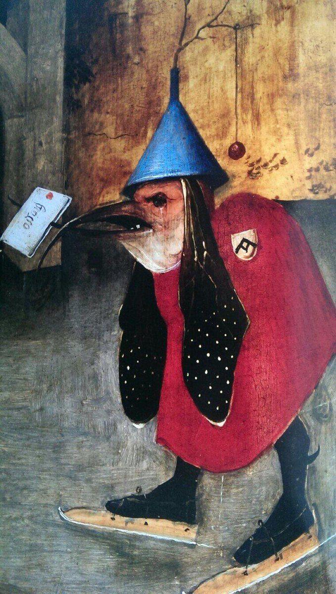 R15 Jamais esquecer de dar recados The Devil's Messenger - Ice skating [Hieronymus Bosch, Temptation of St. Anthony]