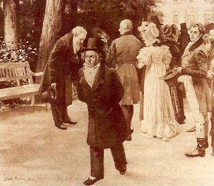 """""""O incidente de Teplitz"""" em pintura de Carl Rohling"""