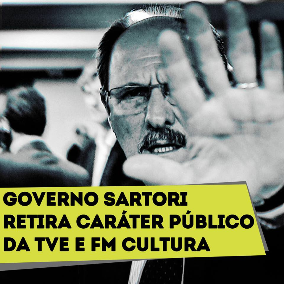 Sartori retira o controle público da TVE e da FM Cultura
