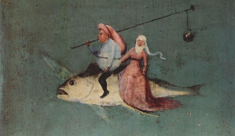 """Detalhe de """"A Tentação de Santo Antônio"""" (1505-06), de Hieronymus Bosch."""