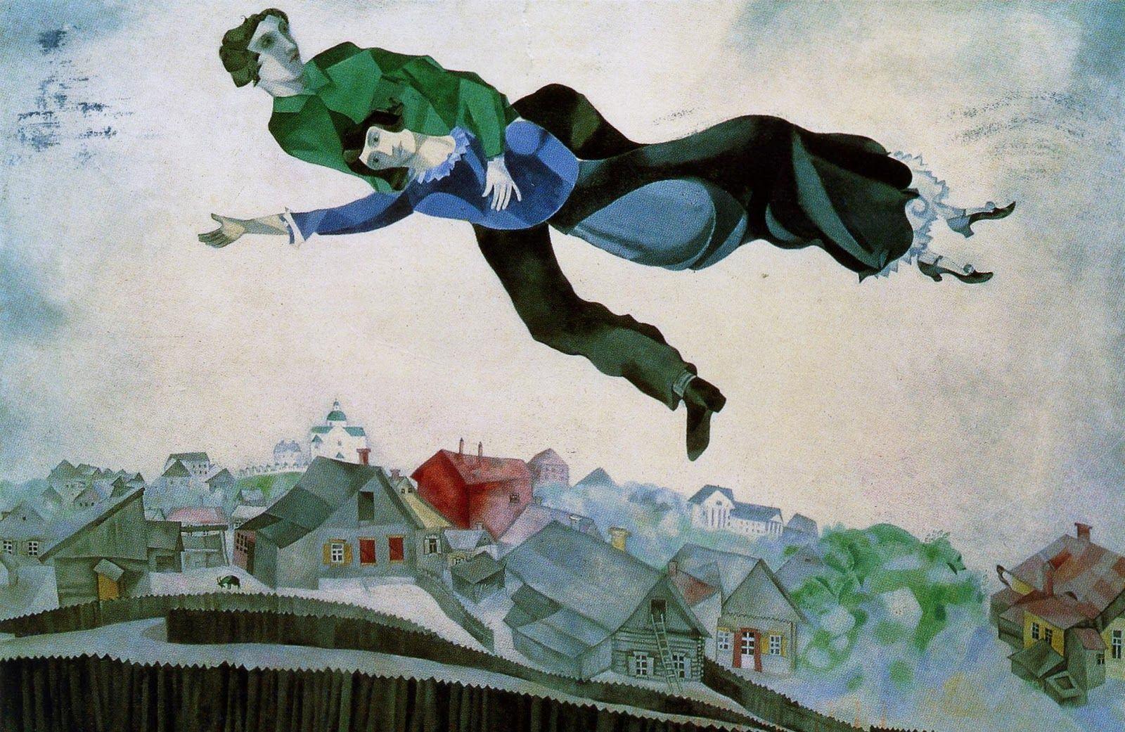 Sobre a cidade, do bielorrusso -- assim como a Elena -- Marc Chagall
