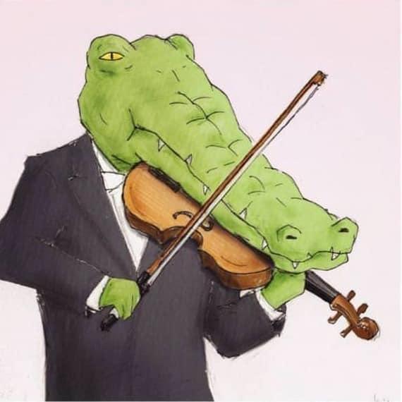Motivos pelos quais não há crocodilos na orquestra