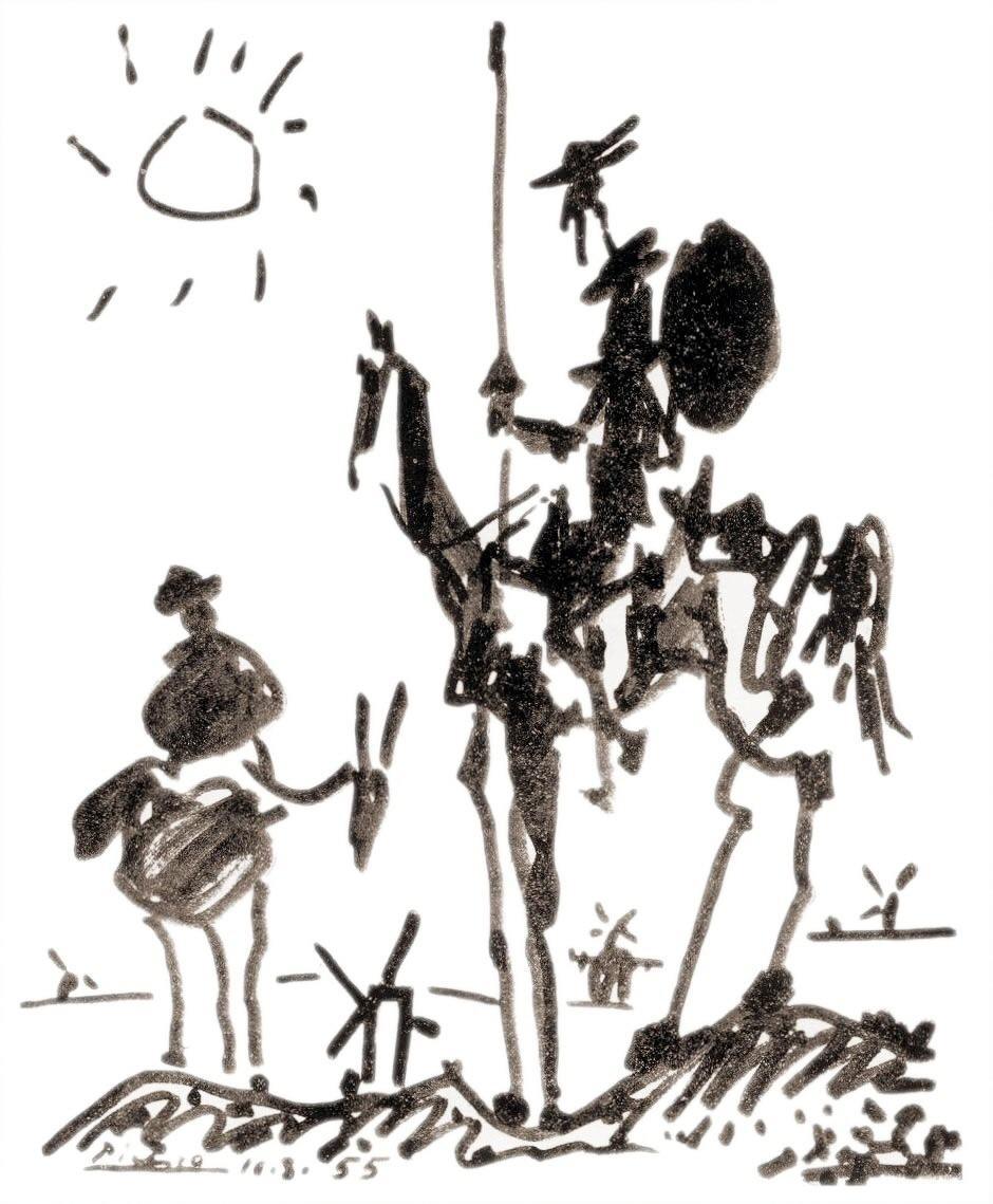 O Dom Quixote de Picasso.
