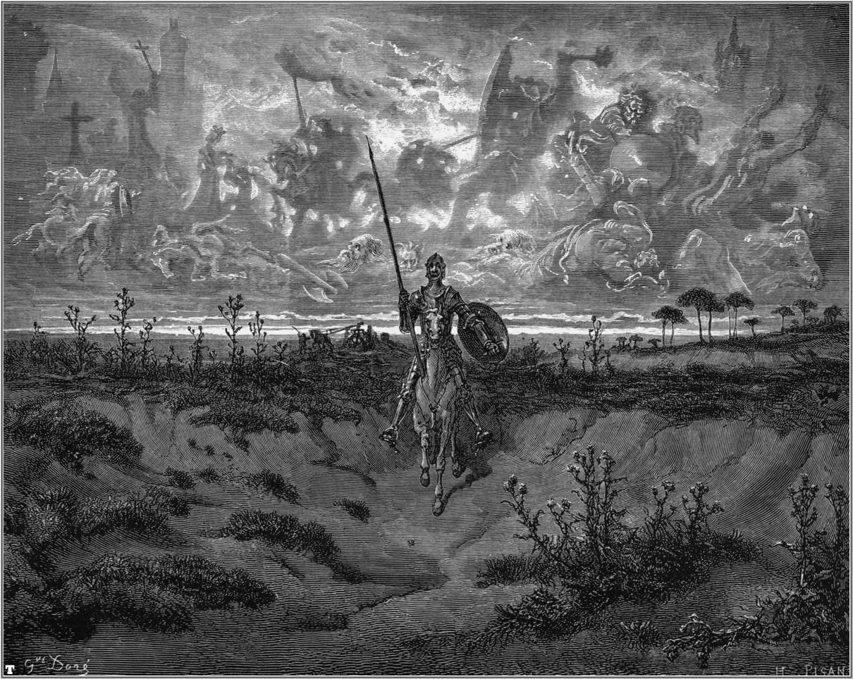 Uma das belas gravuras de Gustave Doré para o Quixote