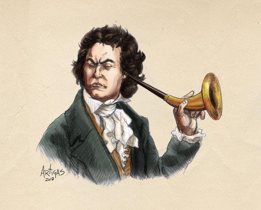 Aos 31 anos, Beethoven já ouvia muito pouco, mas seguiu compondo até a morte, aos 56 anos | Arte de