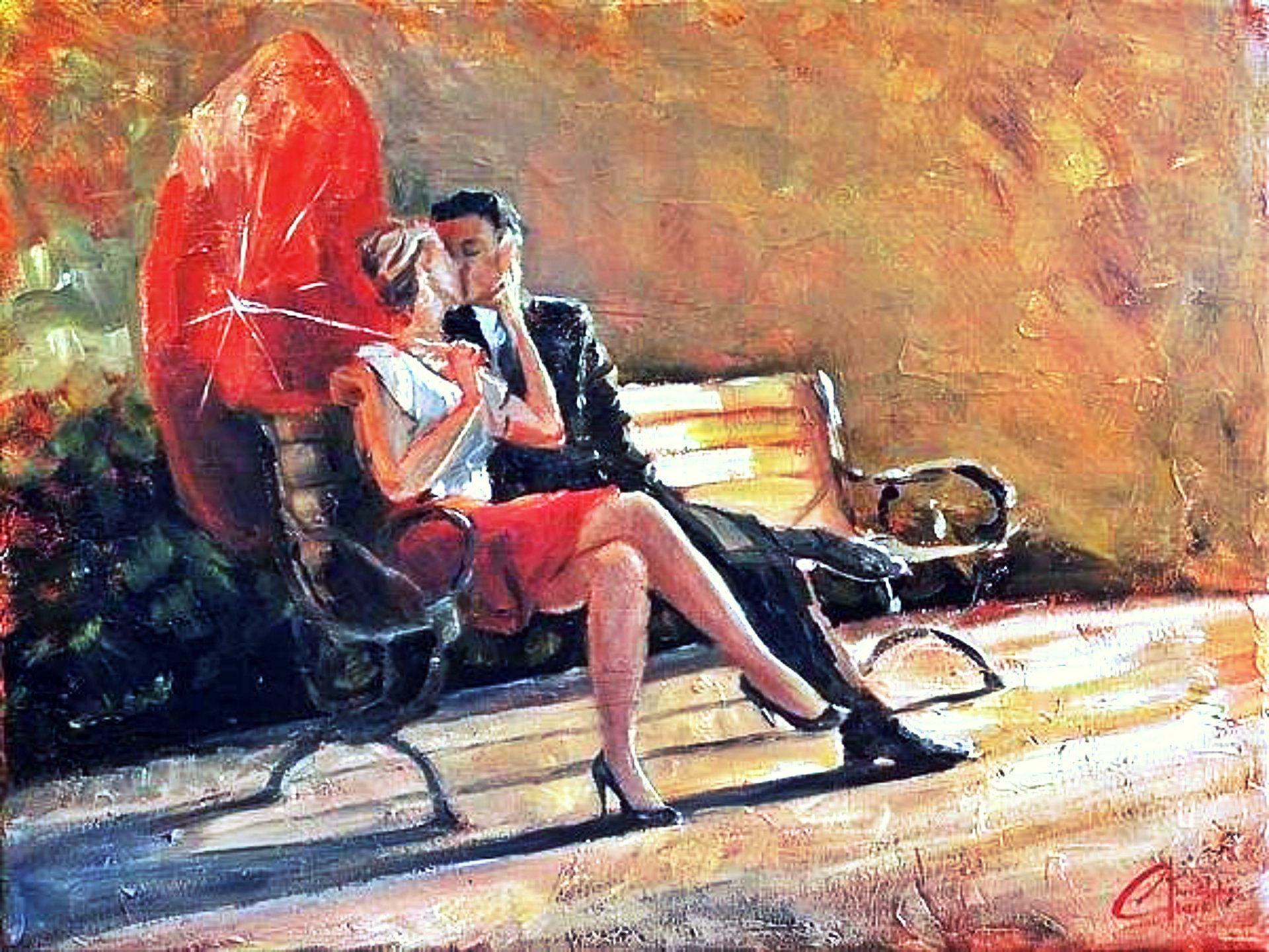 painting_autumn_kiss_love_umberalla_art_hd-wallpaper-1799088