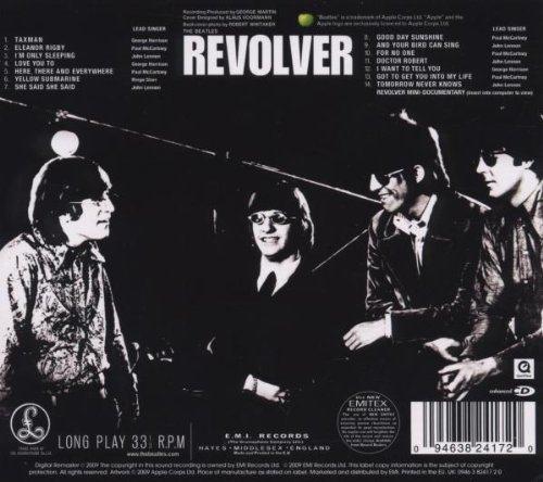 A contracapa de Revolver, dos Beatles