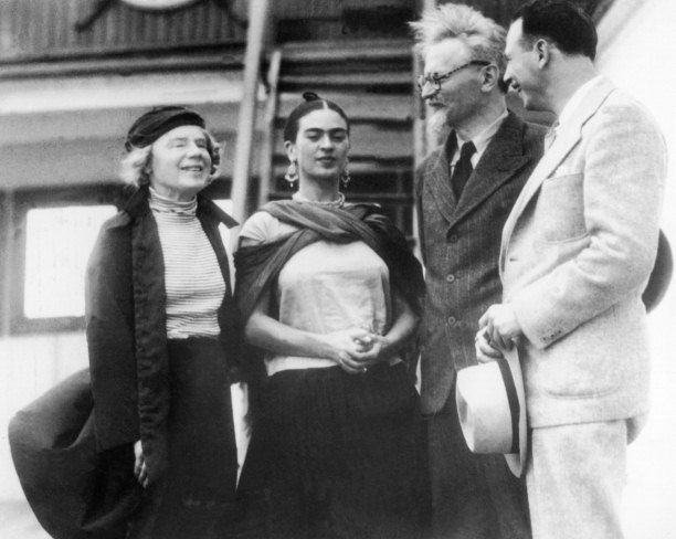 Leon Trotsky (second right) and his wife Natalya Sedova (far left) are welcome to Tampico Harbour, Mexico by Frida Kahlo and the US Trotskyist leader Max Shachtman - See more at: http://www.historytoday.com/richard-cavendish/trotsky-offered-asylum-mexico#sthash.AAMNOTcG.dpuf